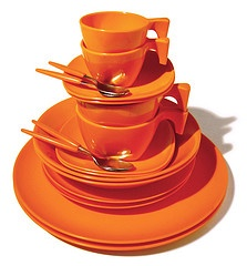 Color Naranja - Orange!!!  vintage Goyana Brazilian melmac