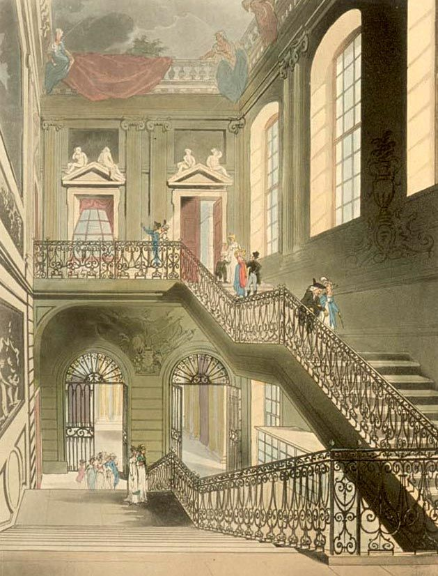 painting of the interior of the british museum montague house
