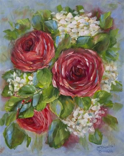 "Daily Paintworks - ""Red As A Rose"" by Bobbie Koelsch"