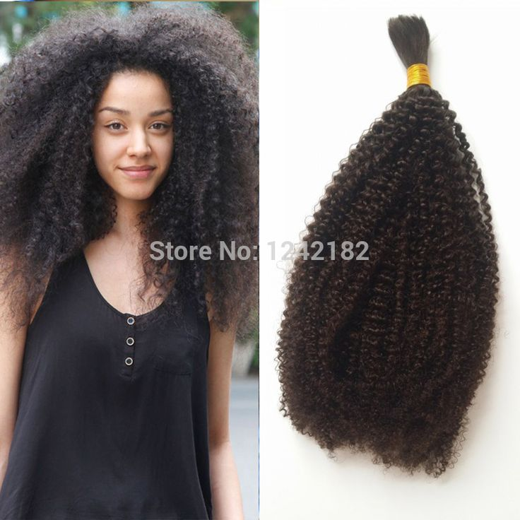 Wholesale Human hair bulk.In factory price brazilian afro kinky bulk hair  for braiding human
