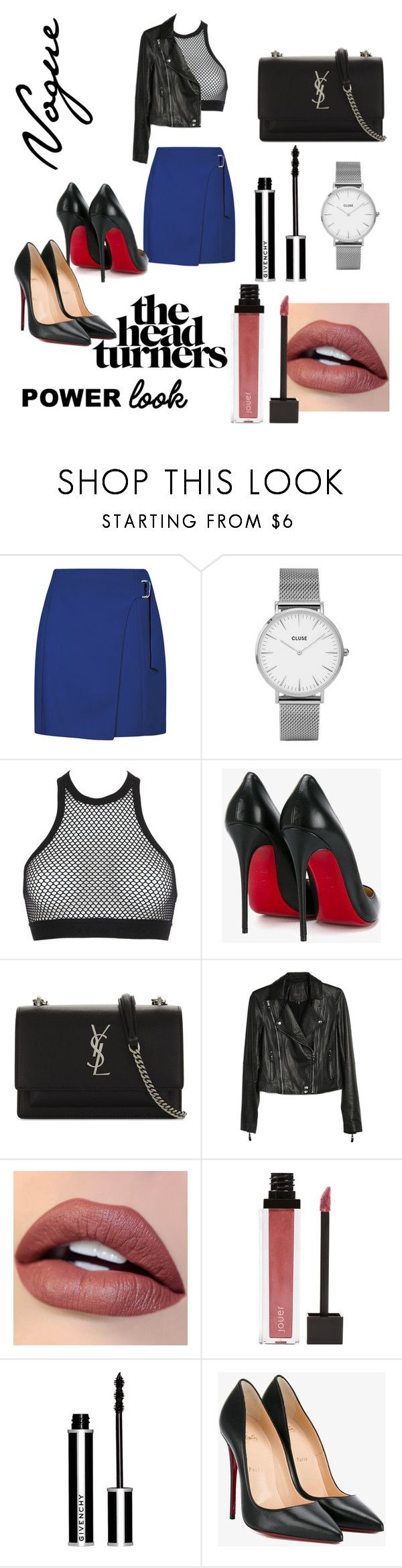 """""""My Power Look"""" by anamariahodinet on Polyvore featuring CLUSE, Dsquared2, Christian Louboutin, Yves Saint Laurent, Paige Denim, Jouer, Givenchy, polyvorecontest and powerlook"""