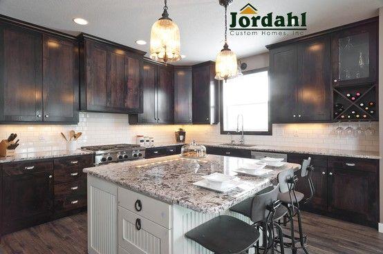 Kitchen With Custom Knotty Alder Cabinets Amp Kitchen Island
