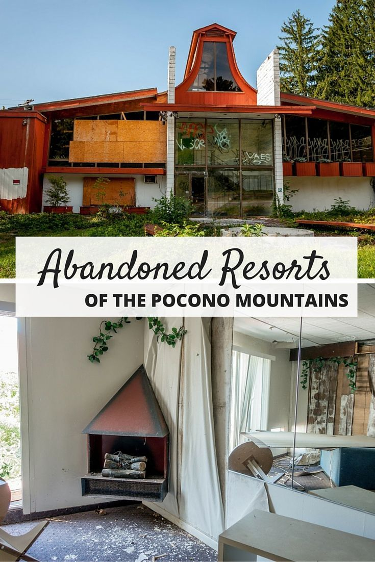 """The Pocono Mountains in Pennsylvania used to bill itself as the """"Honeymoon Capital of the World."""" Now, many of those old, classic resorts are abandoned."""