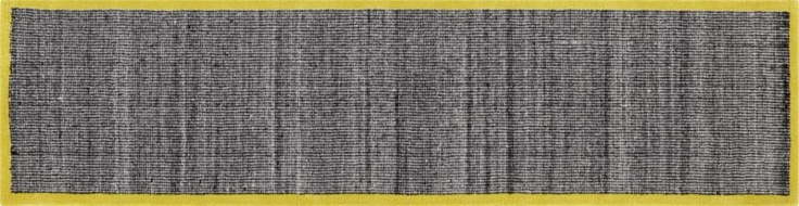 tweed black and white with chartreuse border runner in new rugs/pillows | CB2