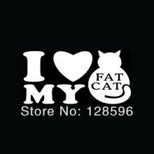 i love my fat cat sticker per parabrezza posteriore dell'automobile della decalcomania del vinile gattino gattino animale amore meow(China (Mainland))