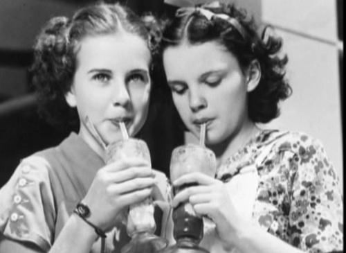 Deanna Durbin and Judy Garland, 1930s  One of my best friends was names after Deanna Durbin!!!!