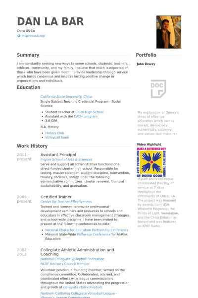 Image result for resume for teacher applying for assistant principal