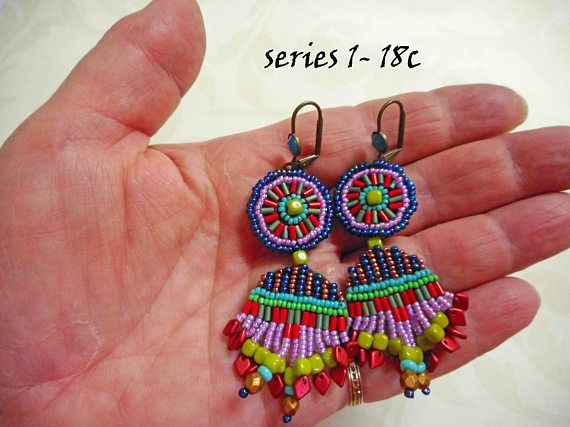 Seed Bead Earrings Series 1/2018