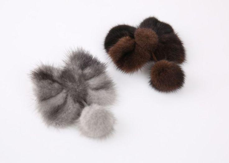 Styleonme_No. 34738 #hairpin #pin #acc #fur #ribbon