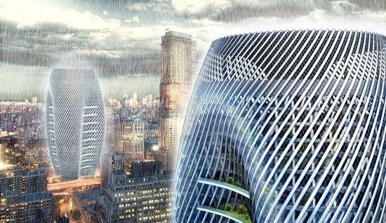 Colector de Lluvia y Rascacielos / H3AR
