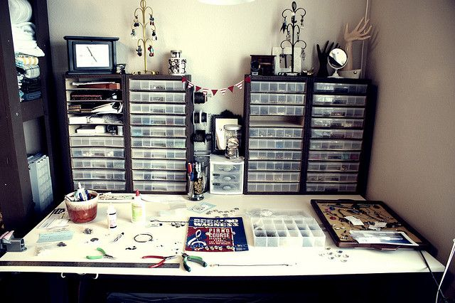 Studio - Jewelry Desk by angiepangea, via Flickr