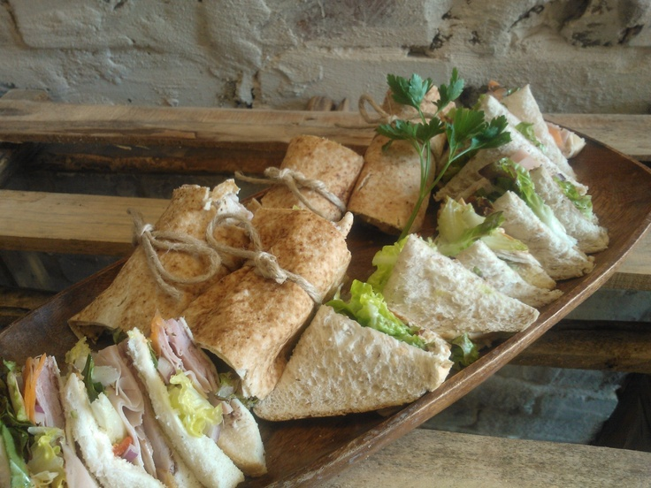 A selection of fresh sandwiches and wraps