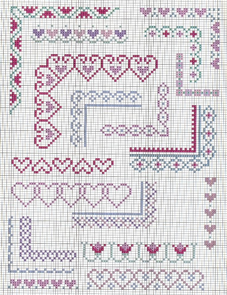 Simple Cross Stitch Borders