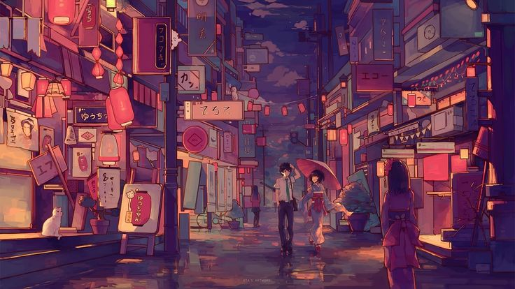 Pin by manu nekito on anime cityscape wallpaper kimi no