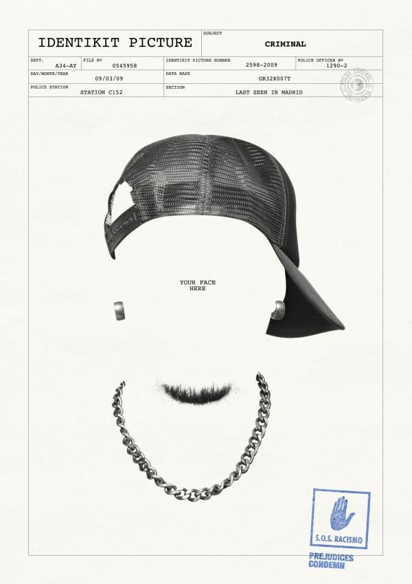 """Awareness Campaign Against Racism: """"CRIMINAL"""" Print Ad  by JWT Spain"""