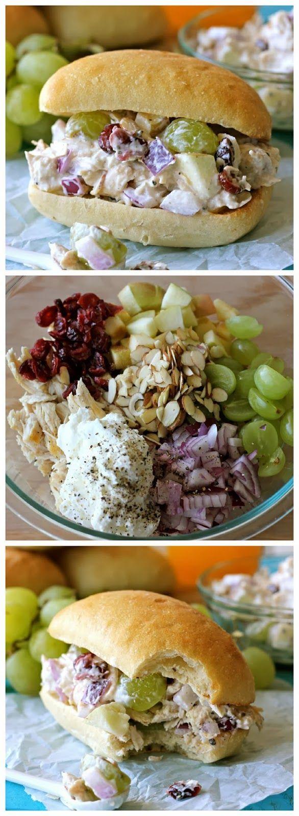 Greek Yogurt Chicken Salad Sandwich - make in lettuce wrap Weight Loss Recipes http://www.4myprosperity.com/?page_id=39