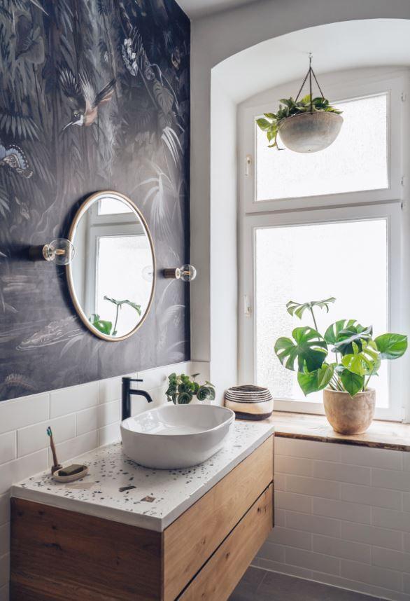 Individuelle Wandgestaltung im Bad in 2020   Badezimmer ...