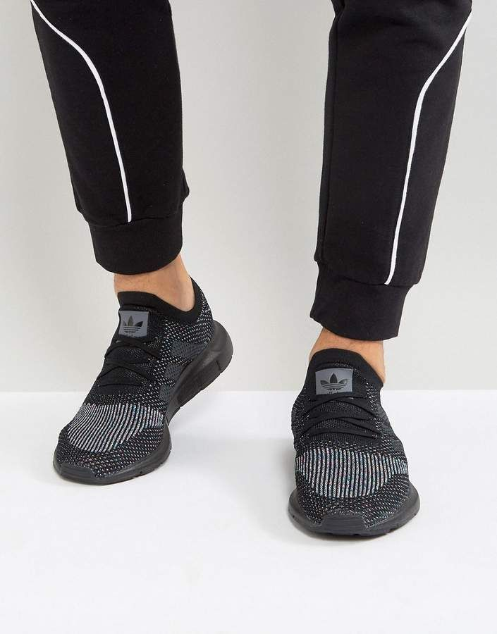 timeless design 1670c f1f4b adidas Originals Swift Run Primeknit Sneakers In Black CG4127