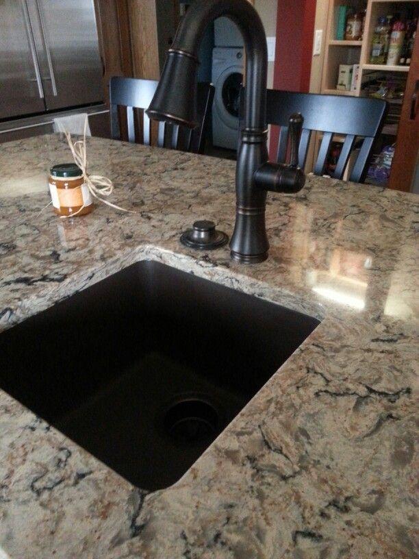 Cambria Bradshaw with oil rubbed bronze faucet and E
