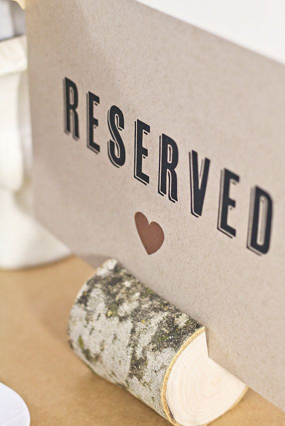 Reserved Sign Wedding Table Sign Reserved Table by WeddingAmbience, $7.50 maybe for instagram notes