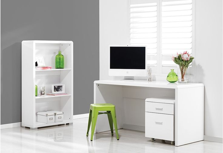 LANDIS 3 Piece Office Package. Comprising of a Landis desk, a Landis 2 drawer filing cabinet, and a Landis bookcase, this sleek and modern package will give your home office a modern minimal makeover | Super A-Mart