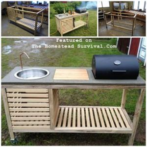 The Homestead Survival | The Perfect Barbeque DIY Project Overview | http://thehomesteadsurvival.com  BBQ Outdoor Kitchen DIY Project  & Homesteading