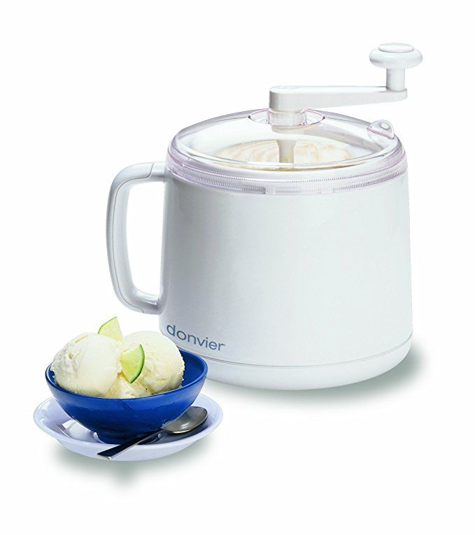 Donvier 837450 Manual Ice Cream Maker 1 Quart White Best Ice Cream Ice Cream Makers Best Ice Cream Maker