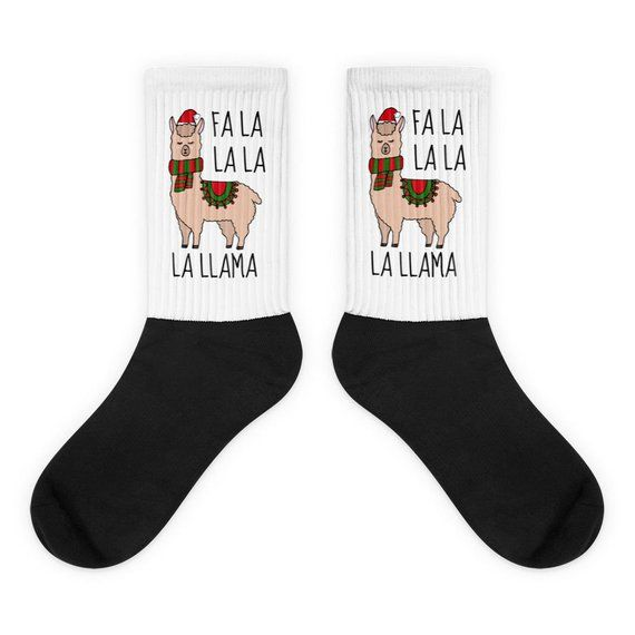 Funny Llama Socks Christmas Socks Fun Socks Novelty Socks Etsy