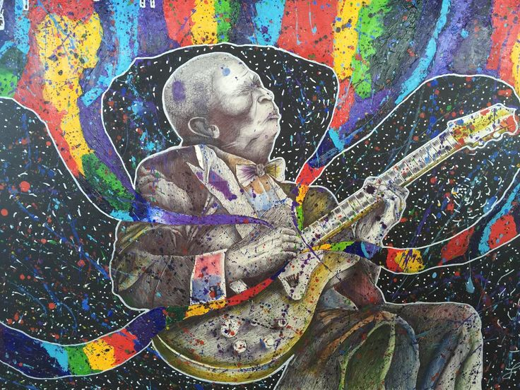 """""""Color In Life"""" - BB King tribute by F. Lopez"""