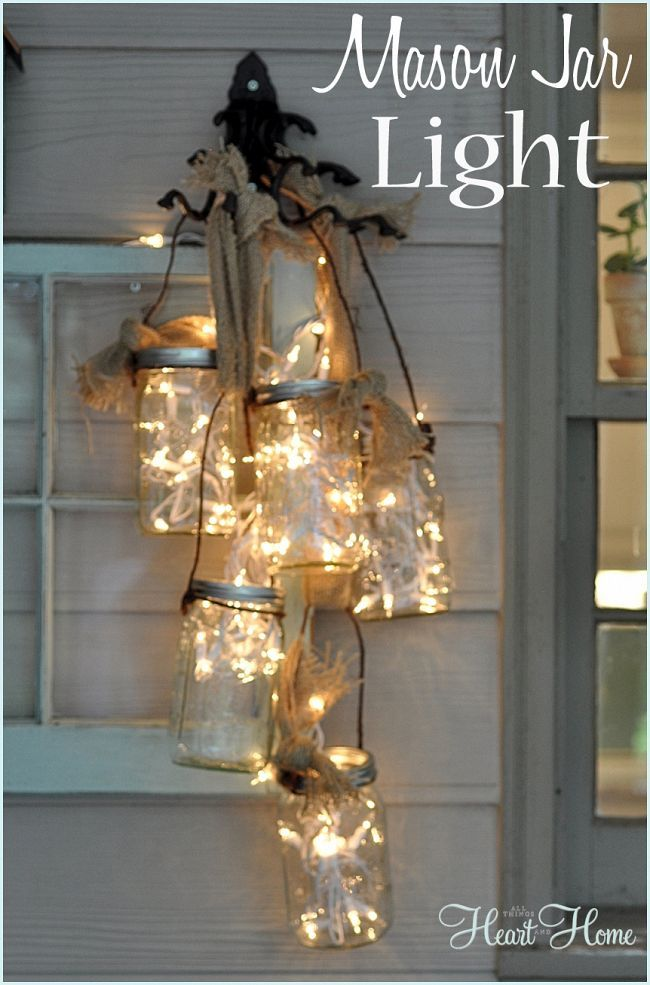 DIY Cluster {Mason Jar} Porch Light!
