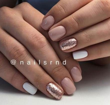 41+  ideas for nails shellac design glitter manicures