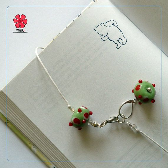 NEW summer 2014 collection ~ MAK Spotted fruit 3 in 1 bracelet + bookmark + stitch marker by Cathliin from prawelewe. Published in Seven Rainbows.
