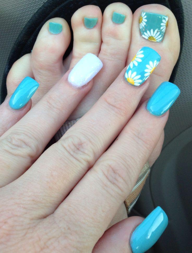 My Spring Nails 2014 #daisy