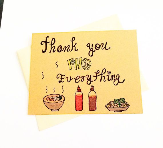 Wedding Gift For Friend Who Has Everything: Funny Thank You Card For Friend, Cute Thank You Card For