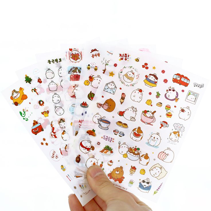 Aliexpress.com : Buy 6 sheets/1set Kawaii Planner Stickers cartoon Molang Fat Rabbit ver 3 Transparent diary deco /sticky notes/ post it note from Reliable post mp3 suppliers on Happy time stock