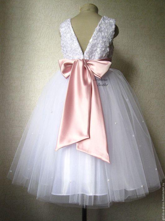Elegant dress for girl / Одежда для девочек, ручной работы. Нарядное платьице. Светлана Светко (нарядные платьица). Ярмарка Мастеров. Наряд для девочки, стрейч-атлас