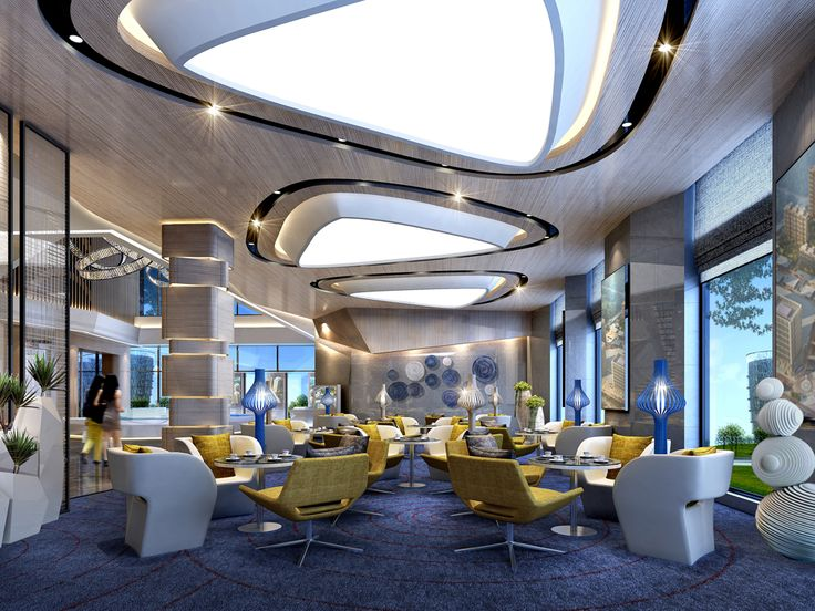 hotel lobby ceiling & light renovation ideas - Pin by yujie on 酒店