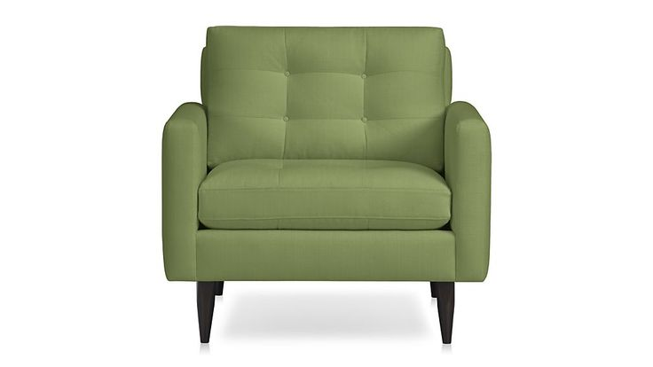 Petrie Chair - Chive | Crate and Barrel