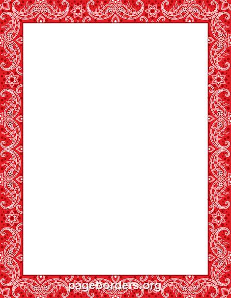 Printable Red Bandana Border Use The Border In Microsoft