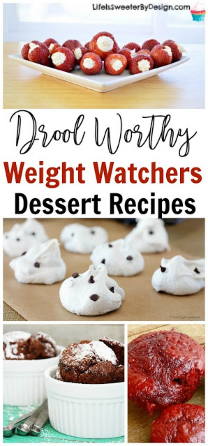 Weight Watchers Dessert Recipes will help curb your sweet tooth. These low SmartPoints desserts are delicious and easy to make! Check out all these Weight Watchers friendly cupcakes, cakes, pies and more!