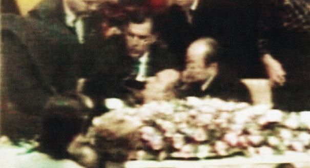 In 1992, President George H.W. Bush vomited and collapsed beside Prime Minister Kiichi Miyazawa during a state dinner in Tokyo, Japan. The White House said he had intestinal flu.