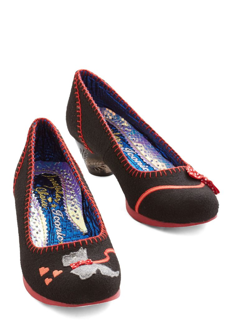 It Tykes Two Heel. The playful adventures you have in these Scottie-dog-adorned heels by Irregular Choice are especially fun when your own pooch comes along! #black #modcloth