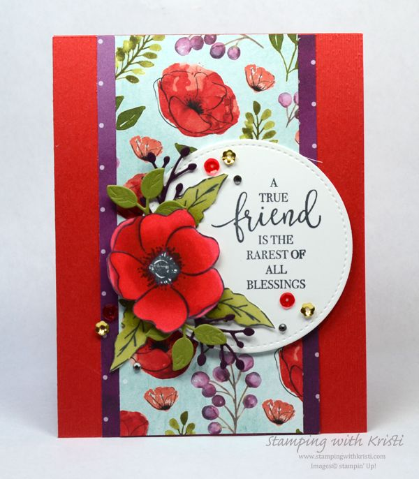Painted Poppies Card For The Happy Inkin Thursday Blog Hop In