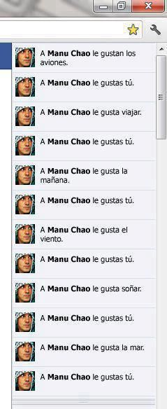 ¿Qué le gusta a Manu Chao?