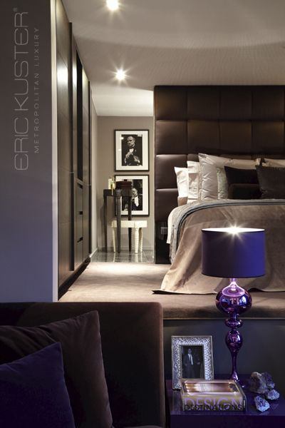 glamorous chocolate bedroom - Eric Kuster Metropolitan Luxury Headquarters, Showroom #interiordesign