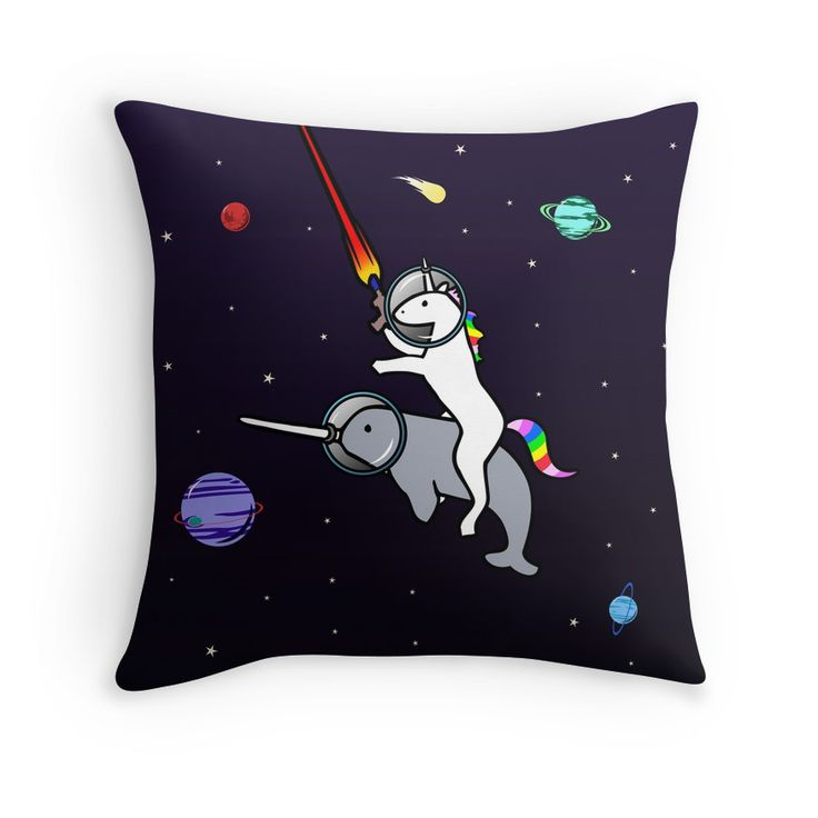 Unicorn Riding Narwhal In Space