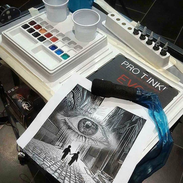 Repost from @valentino_tattoo_studio    Ready.. In progress  #realistic #bestrealistictattoos #ink tattoo #realism #worldfamousink @pro_t_ink @dermalizepro @inkedmag @inkedmagitaly @iltatuaggioitalia #protink #evo #tattooworkstation #inkpalette #inktrays  www.pro-t-ink.com
