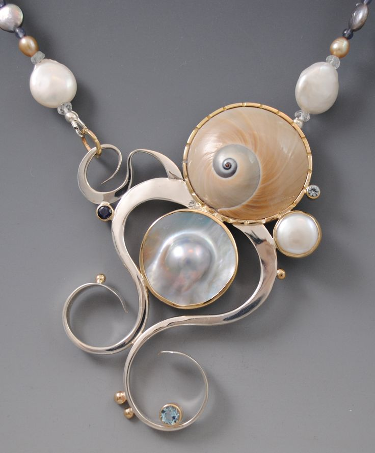 Moon Snail Swimmer Necklace Barbara Umbel Jewelry Design