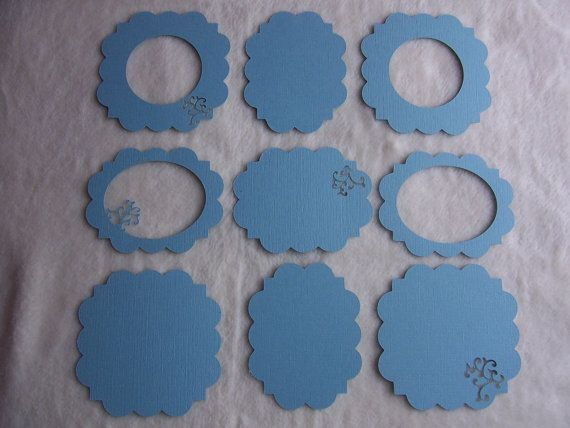 Scrapbook Frames and Mats...9 Piece Set of by JudeAlyssaMarkus