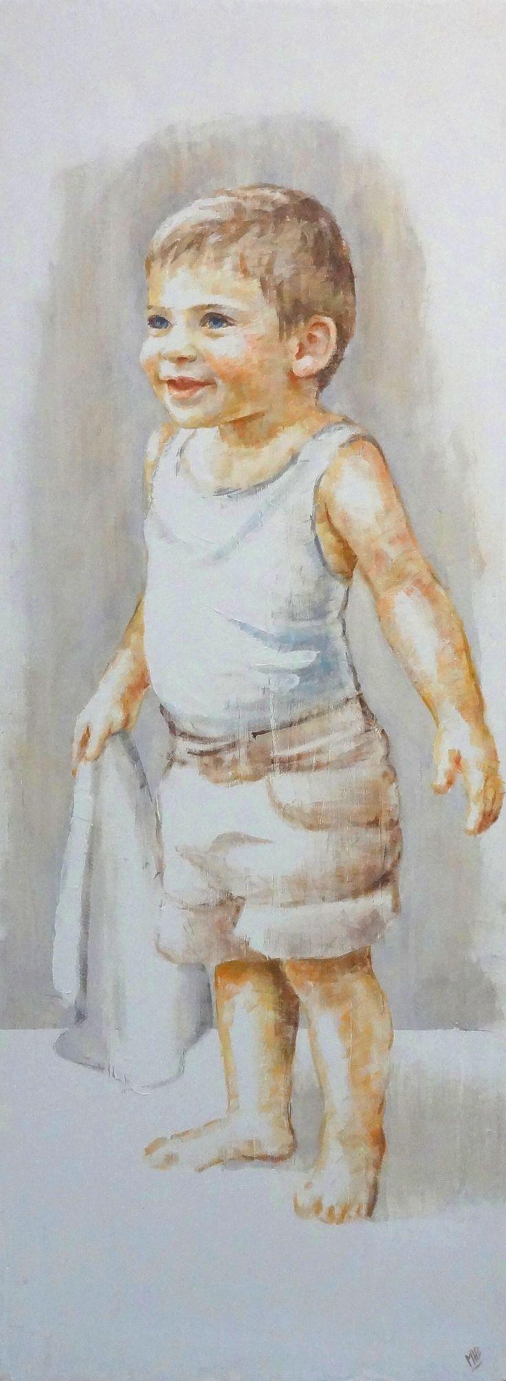 niño retrato 130 x 50-M. Isabel Barros Alcalde